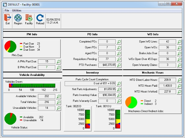 rta fleet maintenance software