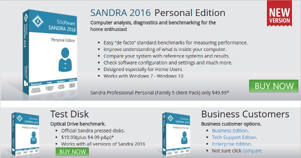 sandra 2016 personal edition