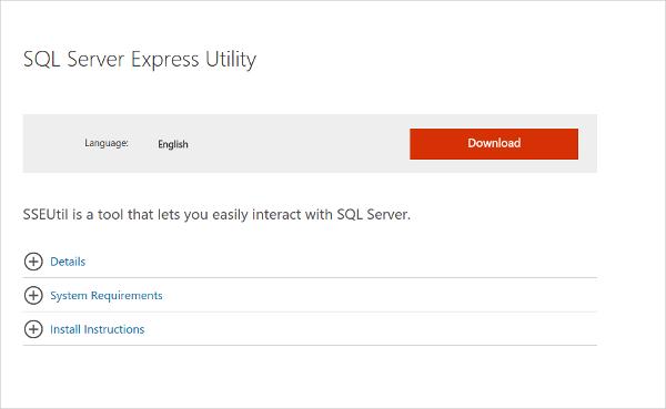 sql server express utility