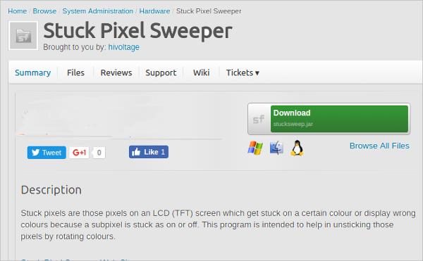 stuck pixel sweeper