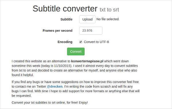 Txt to srt converter download