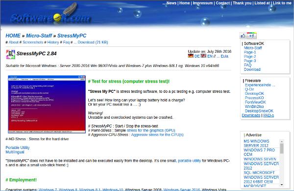 test for stress computer stress test