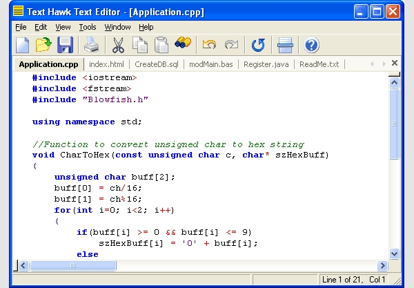 text hawk vbscript editor
