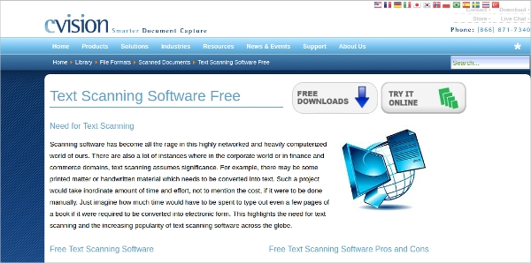 text scanning software free