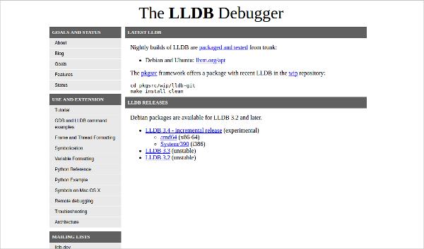 the lldb debugger