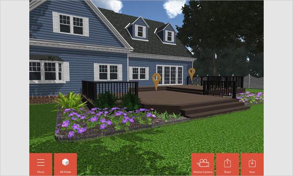timbertech 3d deck and rail