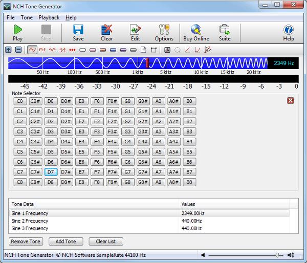 tone generator software