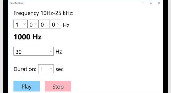 tone generator for windows