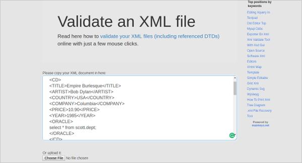 validate an xml