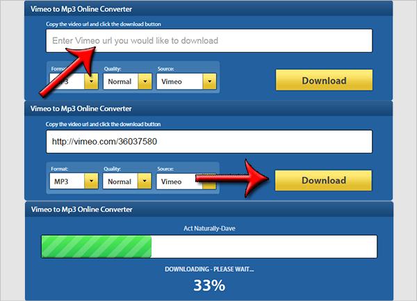 vimeo to mp3 online converter