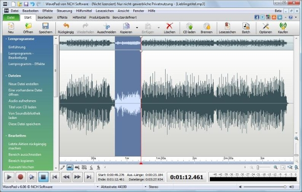 wavepad audio editing software3