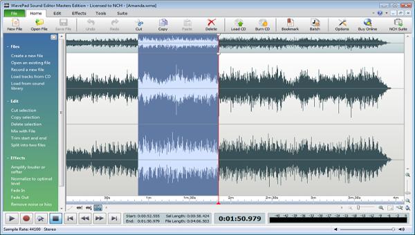 wavepad fft sound analyzer