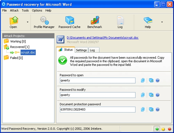 word password recovery v2