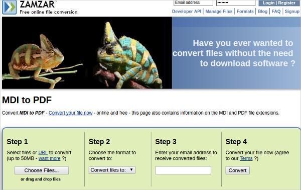 convert mdi to pdf online