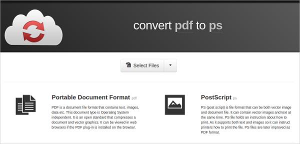 convert pdf to ps