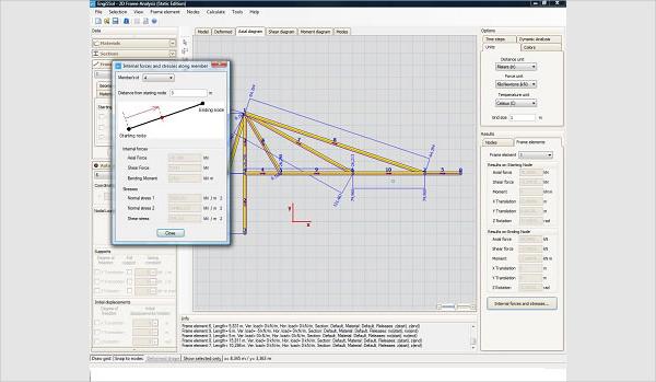 2d frame analysis