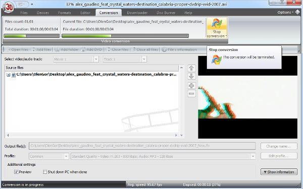 2d to 3d video converter software