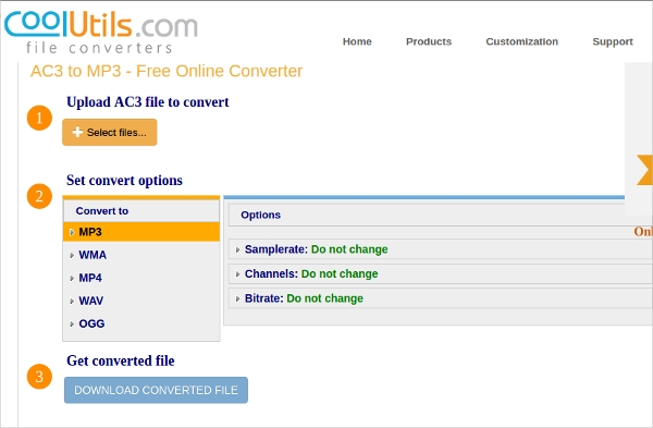 ac3 file to convert