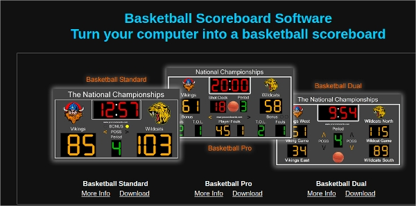 basketball scoreboard software