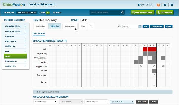 chirofusion chiropractic software
