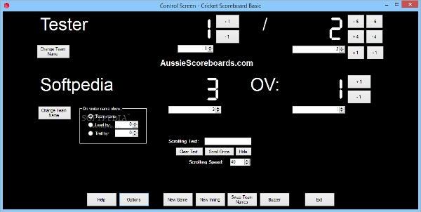 cricket scoreboard for linux