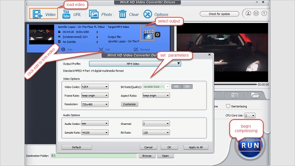 easy to use video compress