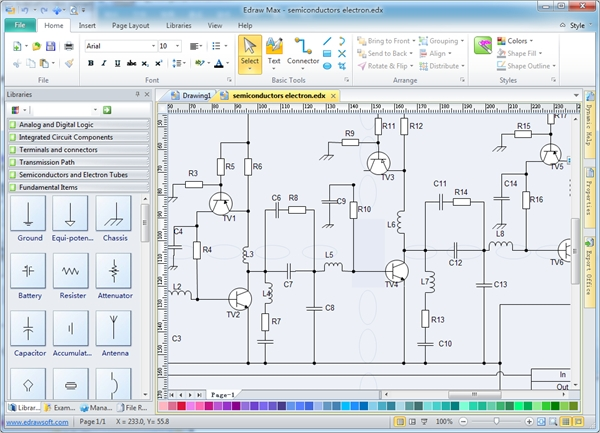 6 best electrical schematic software free download for Drawing programs for windows