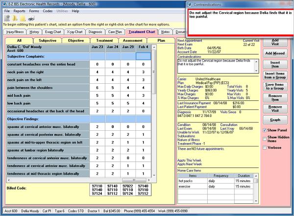 ezbis chiropractic software