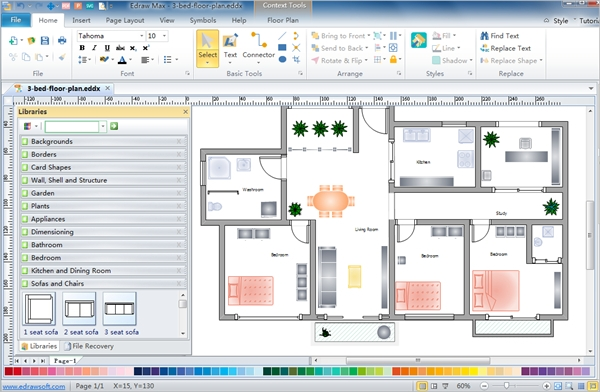 6 best plant layout software free download for windows for Free floor plan drawing software
