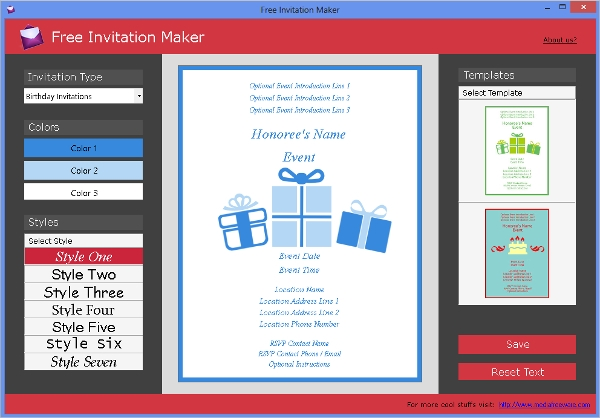 6 best invitation maker software free download for windows mac free invitation maker stopboris Choice Image