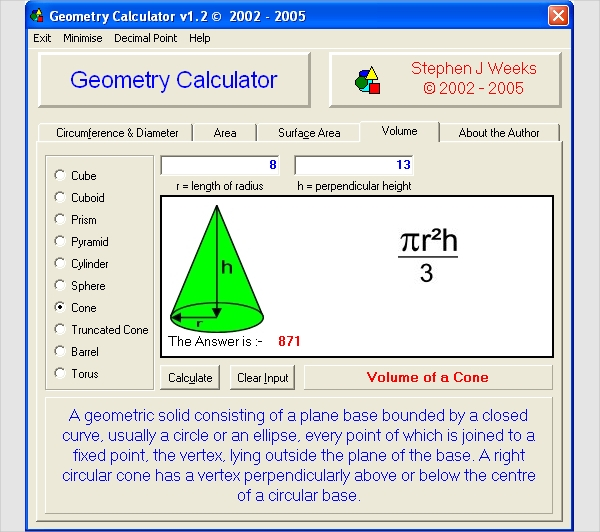 geometry calculator for windows