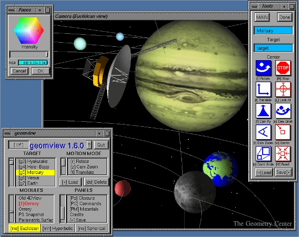 geomview 3d geometry