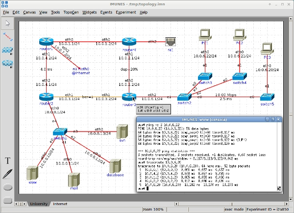 imunes network simulator