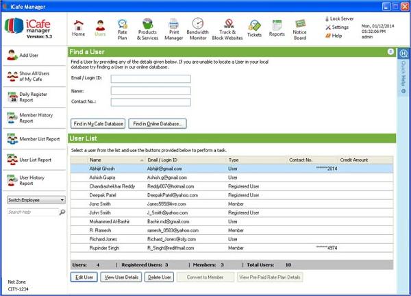 internet cafe management software