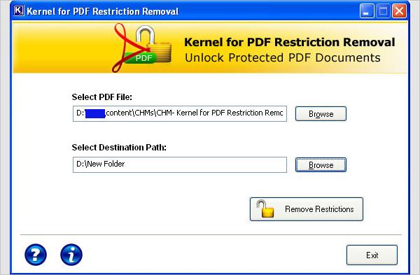 kernel for pdf restriction removal