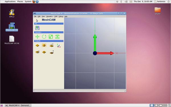meshcam for linux cnc
