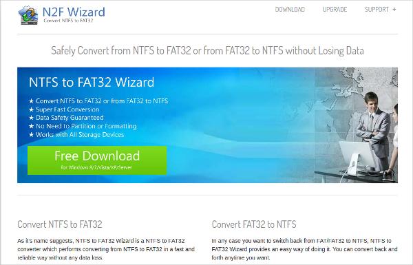 ntfs to fat32 wizard