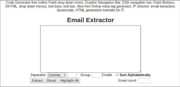 online mail extractor