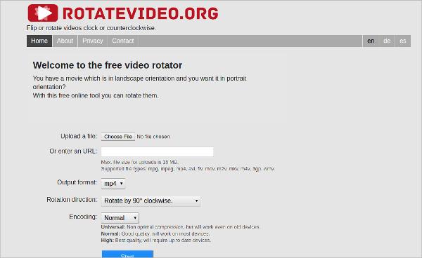online video rotator