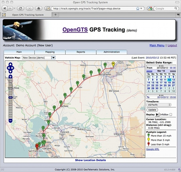 open gps tracking system
