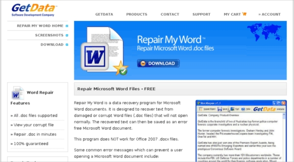 Download Repair My Word Windows