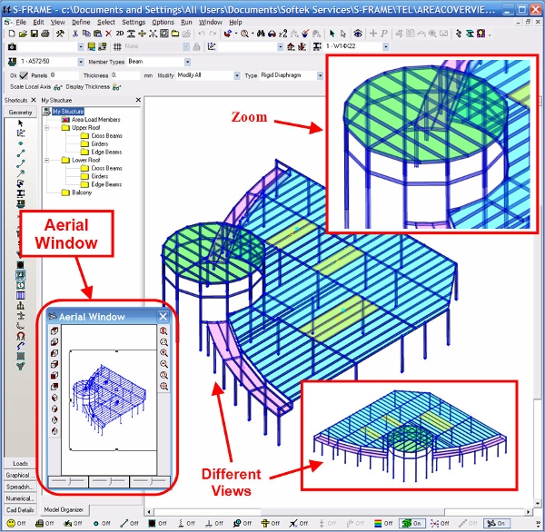 s frame structural analysis