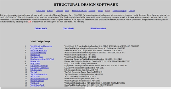 structural design software
