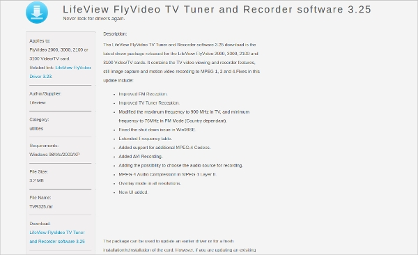 tv tuner and recorder software