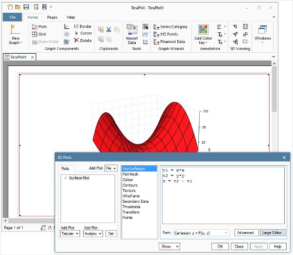 teraplot 2d 3d plotting software