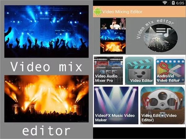 video mixing editor