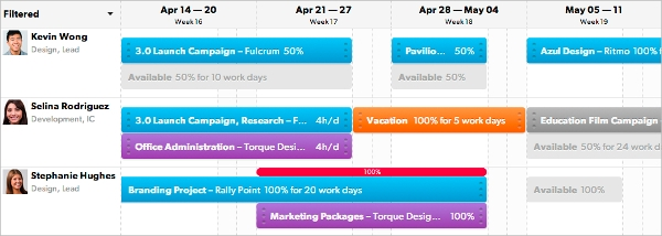 visual resource planning software