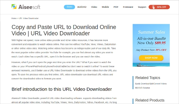 aieesoft video downloader