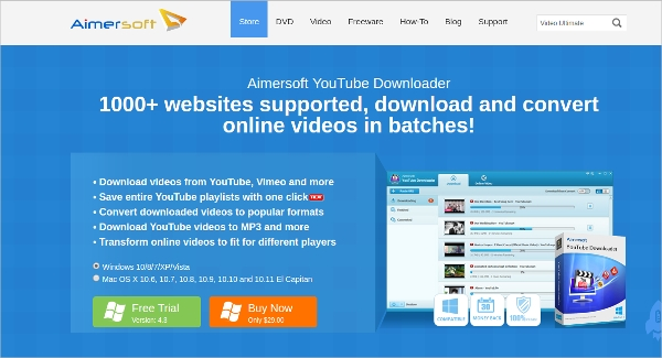 aimersoft youtube downloader1