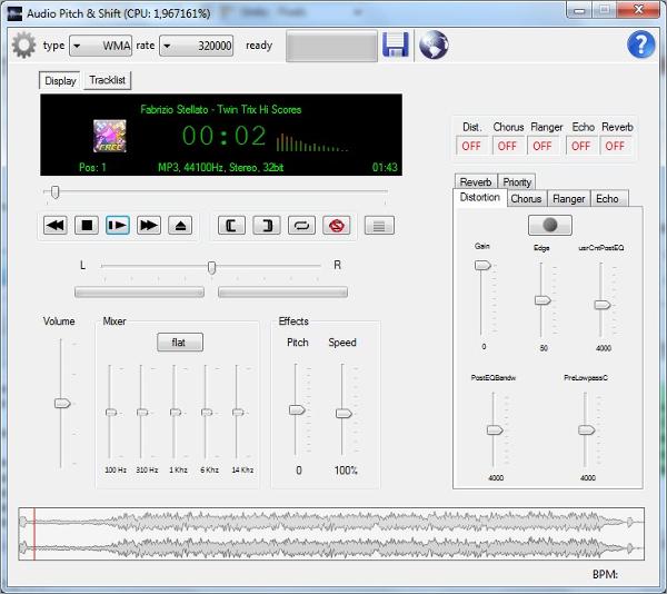 audio pitch shift